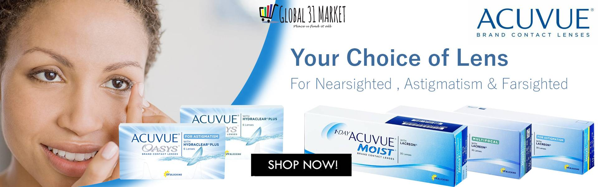 Acuvue family contact lens with global 31 Market