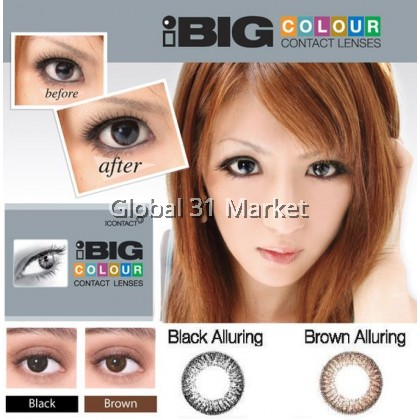 iContact Color Contact lens , iBig Series , 14mm ,2pieces , 2 Wonder Color