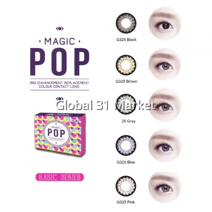 Magic pop , Basic Series Monthly color contact lens , 14.5mm
