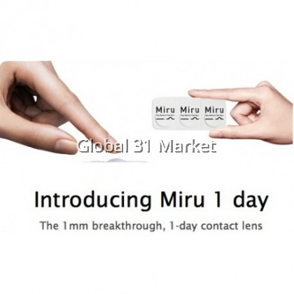 Miru  The 1mm breakthrough, 1-day contact Lens  ( 30 Pieces per box)