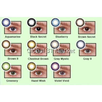 Bionics Color Touch ,  monthly Disposable contact lens 14mm Ready stock With power & without Power