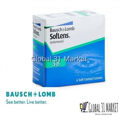 Bausch&Lomb Soflens 38 1 Month Clear Lens 6pcs/box -1.00 to -9.00