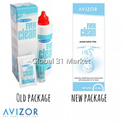 Avizor Ever Clean Preservative Free Cleaning, Disinfecting and Total Protein Removal System , 225ml