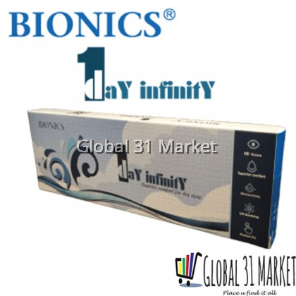 Bionics 1 Day Infinity , Daily clear Contact lens ,55%, 10pieces