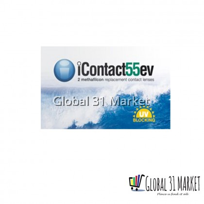 Icontact , iContact55EV , Aspheric Clear lens , Monthly