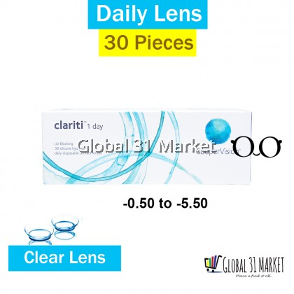 Clariti 1day 30pcs/box . Silicone Hydrogel lens CooperVision -0.50 to -10.00DS