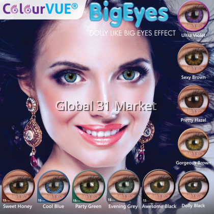 ColourVue Big Eyes Series , 3 Month Disposable Color Lens , 14.5mm 15mm