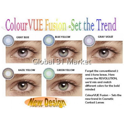 ColourVue Fusion Series , 3 Month Disposable Color Lens , 14mm