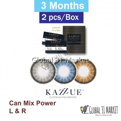 Kazzue Cherish Series 3 Month Color Contact lens 2 pcs ( can Mix Power ) 0.00 to -8.00 Pre order