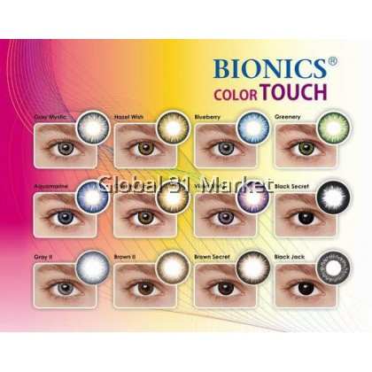 Wholesales! Bionics Color Touch , Monthly Color Contact Lens 14.2mm ( 4 New Color!)
