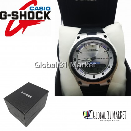 Casio G-Shock 2747 AW-80 , Casio Mens Quartz Watch with Digital & Analogue Display and Black Resin Strap