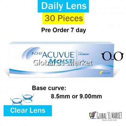 Acuvue 1 day Moist 30 Pieces , Clear Contact Lens