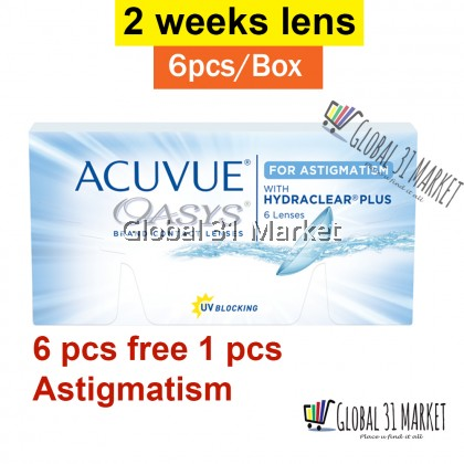 ACUVUE OASYS® Contact Lenses for Astigmatism 2-Week , Clear 6Pieces + 1 Piece Free , 14.5mm