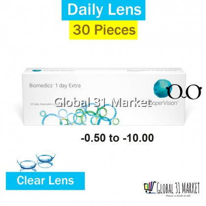 CooperVision Biomedic 1Day Extra , 30Pieces Per Box (Ready Stock)