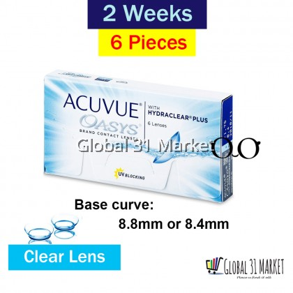 ACUVUE OASYS® with HYDRACLEAR® PLUS Contact Lenses 14mm Base 8.4mm