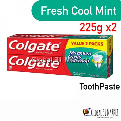 Colgate Red Twin Pack Fresh Cool Mint 225g x2 Ready stock Toothpaste