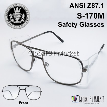 Safety Glasses Safety Guard S-170M Clear UV400 ANSI Z87.1 , Ready Stock