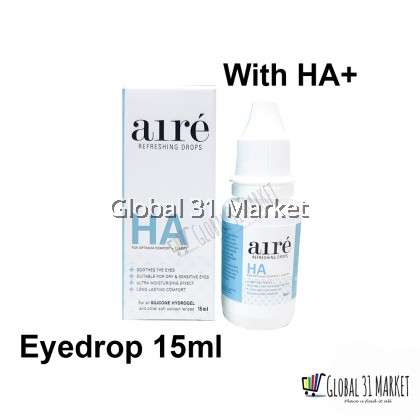 Igel Aire EyeDrop 15ml With HA+ with or Without Contact lens can use Ready stock!