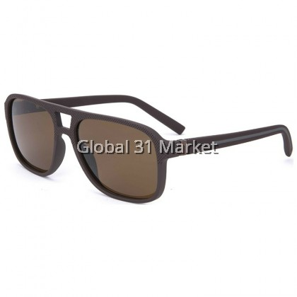 Cool Men Black Matte Plastic Sunglasses Polarized , Full Frame Made In Korea 6 Color , With Zip Case box