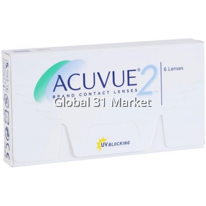 ACUVUE® 2 2-Week Contact Lenses  6 pcs base 8.3mm , Pre order 7 Day