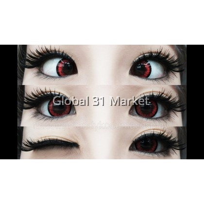 Dolly+ Red  Crazy lens Circle Lens 16.2mm 0.00  / Plano Ready STock iFairycon